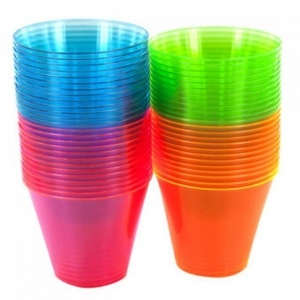 Multicoloured Plastic Drink Glasses