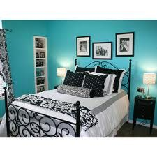 turquoise and black bedroom - Google Search