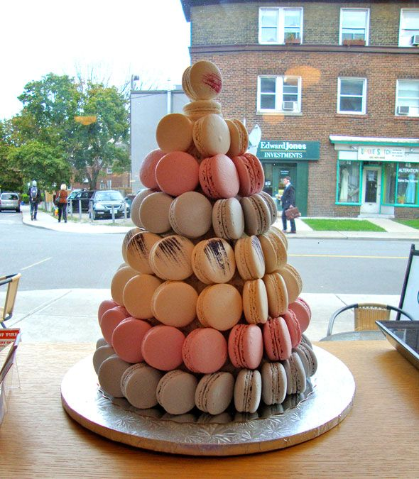 Macaron tree in La Bamboche in Toronto