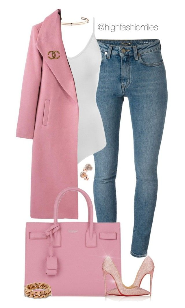 """""""Untitled #2721"""" by highfashionfiles ❤ liked on Polyvore featuring Yves Saint Laurent, Vita Fede, Intimissimi, Christian Louboutin, STELLA McCARTNEY, GUESS and Chanel"""