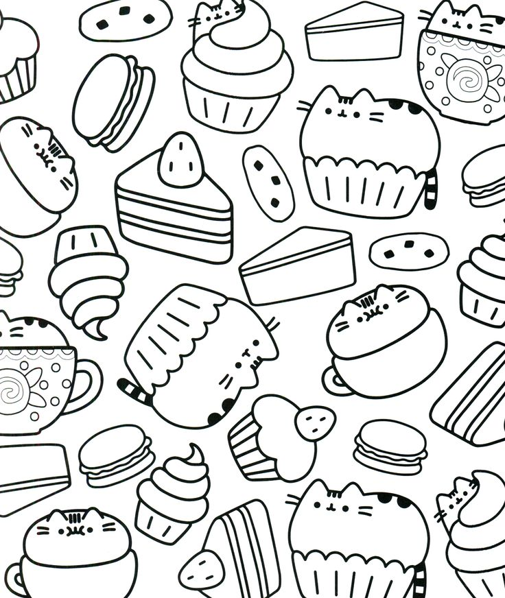 baked treats coloring pages - photo#29