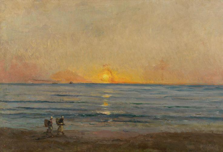 Charles François Daubigny, Sunset near Villerville, c.1876
