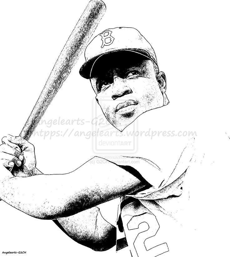 jackie robinson coloring page - jackie robinson baseball by on