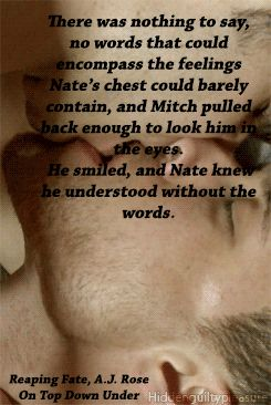 Reaping fate by A.J. Rose. Aww, Mitch and Nate. http://ontopdownunderbookreviews.com/reaping-fate-reaping-havoc-2-a-j-rose/