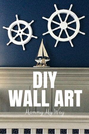 best 25 nautical wall art ideas on pinterest nautical decorative art diy nautical projects. Black Bedroom Furniture Sets. Home Design Ideas