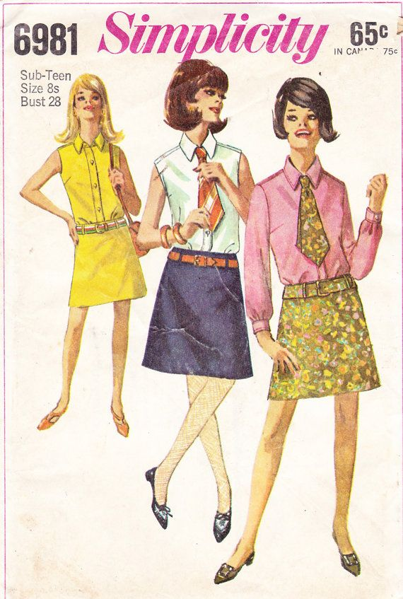 60's sewing pattern from Simplicity  made this shirt repeatedly