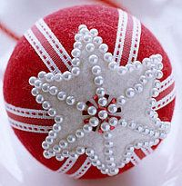 Felt Covered Christmas Ornaments | These will look pretty on your tree!