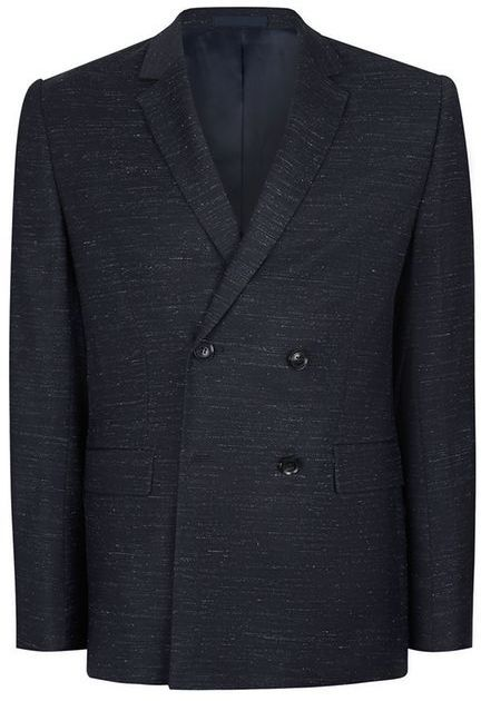 Topman CHARLIE CASELY-HAYFORD X Navy Fleck Relaxed Fit Weekend Suit Jacket