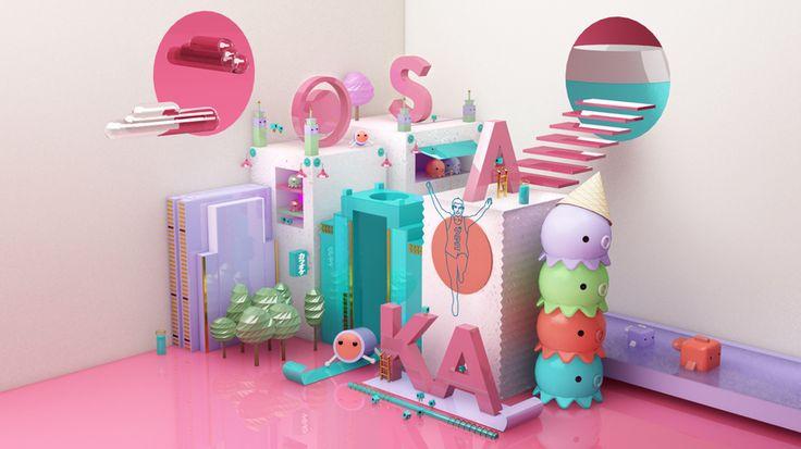 3D, Maxon Cinema 4D, design, render, japan, osaka, vray, inspiration, c4d, takoyaki,