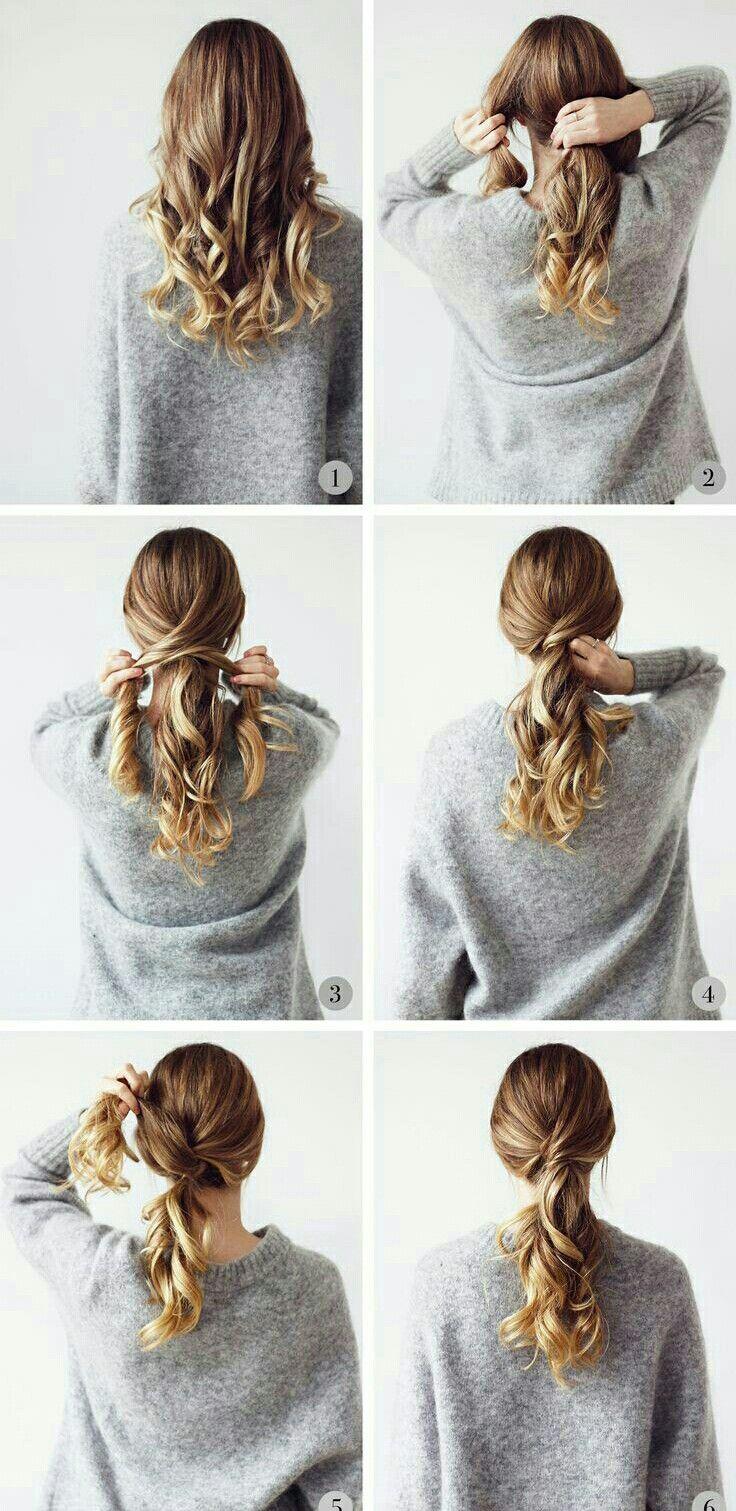 Sigue el #PasoAPaso de estos #peinados #sencillos que son ideales para cualquier ocasión.