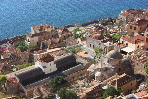 Monemvassia petit port - Grèce péloponnèse