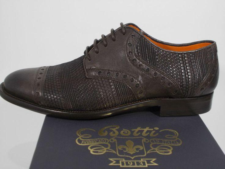 BOTTI scarpa uomo CLASSICA FRANCESINA pelle vitello MARRONE tg.8(UK) 42(IT) NIB