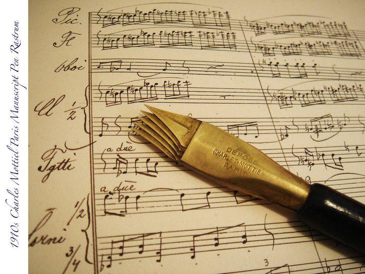 1910s MUSIC RASTRUM MANUSCRIPT NIB PEN UNUSUAL RARE MINT DIP ANTIQUE VINTAGE PEN