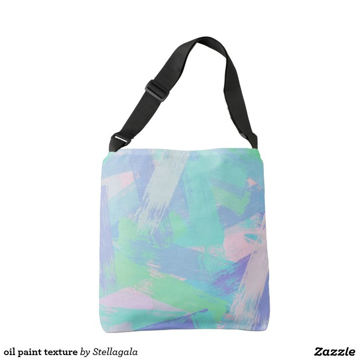 oil paint texture crossbody bag