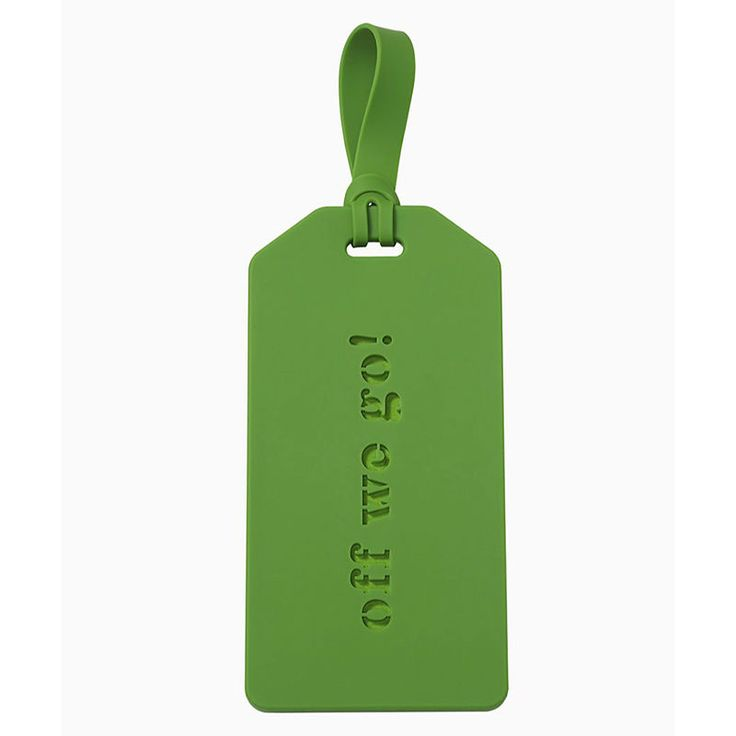 top3 by design - Kate Spade - KS luggage tag off we go green