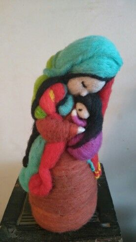 Escultura en fieltro agujado  Terraamore hecho a mano