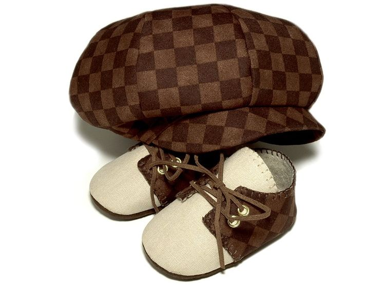 Baby Boy Hat and Shoes: Boys Shoes, Lucas Baby, Sets Brown, Baby Boys Hats, Baby Boy Hats, Golf Sets, Baby Shoes, Baby Golfer, Golfer Hats