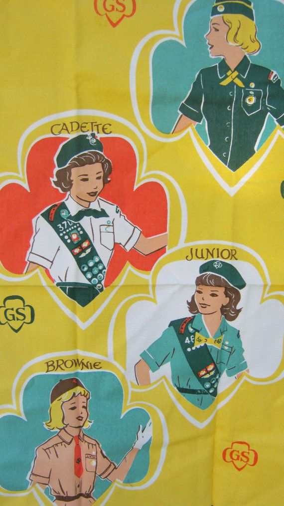 I was a Brownie and to this day I still have my little beanie.    Girl Scout Towel and 3 Badges by mysistersbarn on Etsy, $12.00 #camping