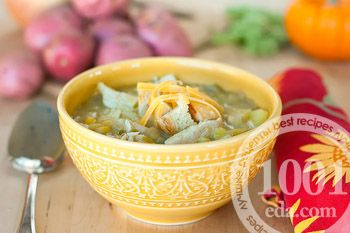 Суп клем чаудер с курицей и кукурузой