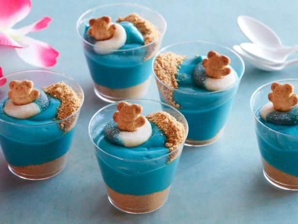 Ocean Pudding Cup Recipe Easy Summer Desserts Summer Party