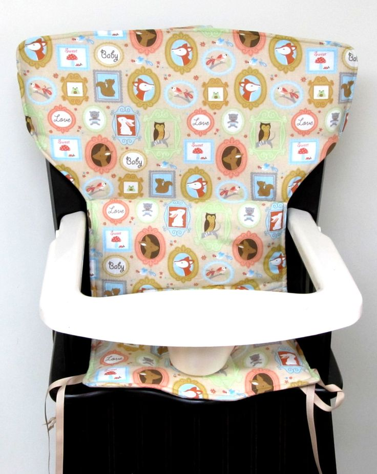 Eddie Bauer Newport wooden high chair cover, Safety First wood high chair,feeding chair pad, baby accessories, baby, child,  sweet baby love by SewingsillySister on Etsy