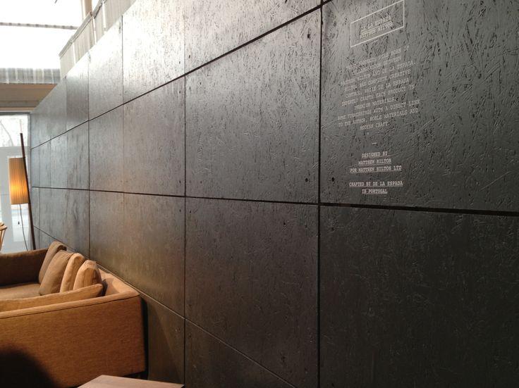 Osb wood as wall decoration