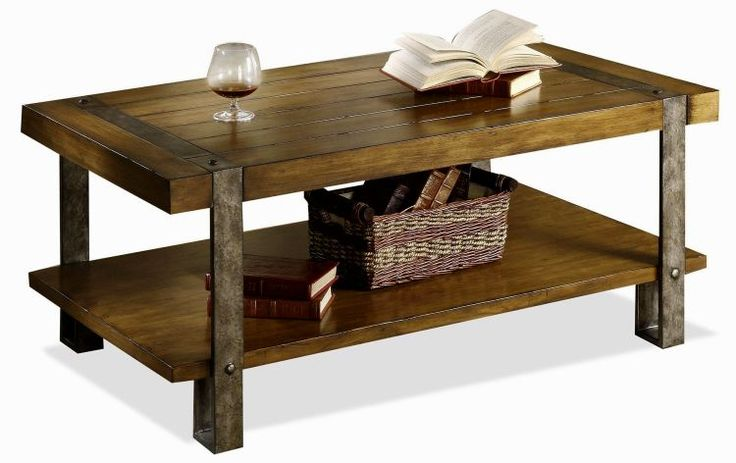 Rustic Wood Coffee Table With Metal Legs Table Design Ideas Pinterest More Rustic Wood