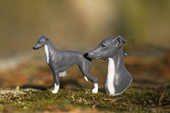 Italian Greyhound (Piccolo Levriero Italiano) - number holder / brooch / magnet