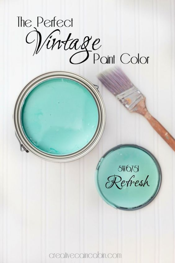 The Perfect Vintage Paint Color   Refresh Paint by Sherwin Williams   CreativeCainCabin.com: