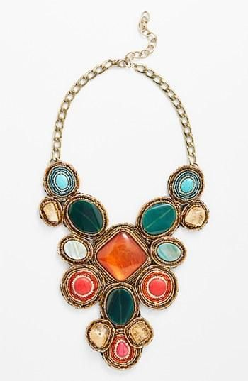 Bold and colorful statement necklace.