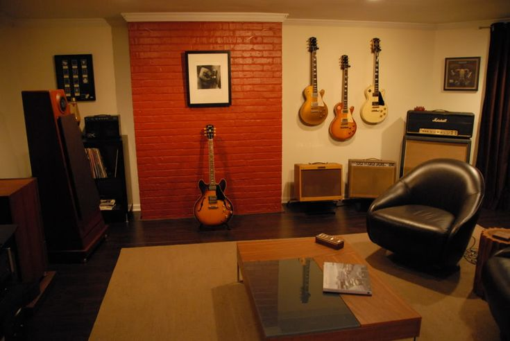 Man Cave Music Room Ideas : Guitar feature wall music room pinterest colors