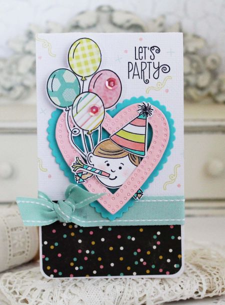 Let's Party Card by Melissa Phillips for Papertrey Ink (January 2017)