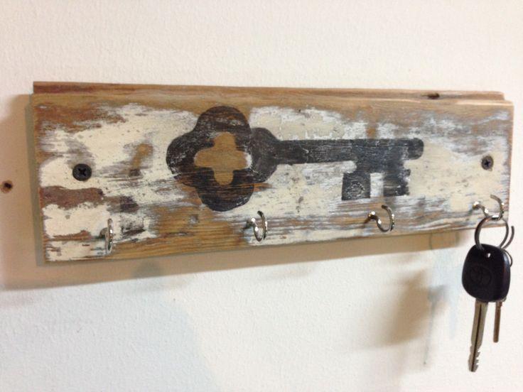 vintage wood key rack 1