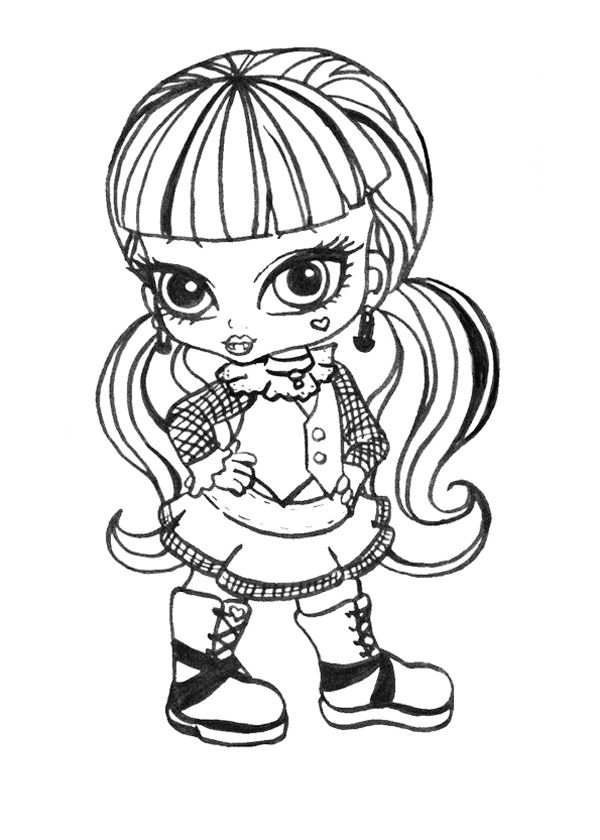 11 best omalovánky Monster High images on Pinterest | Coloring pages ...