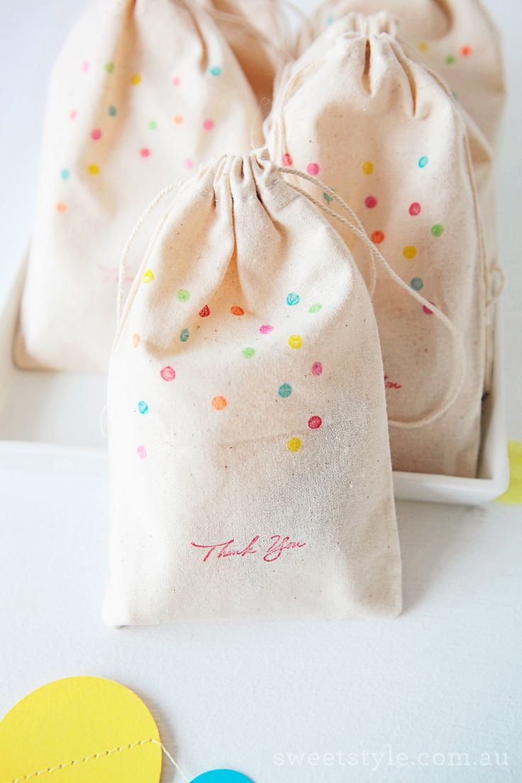 confetti bag thank you favors