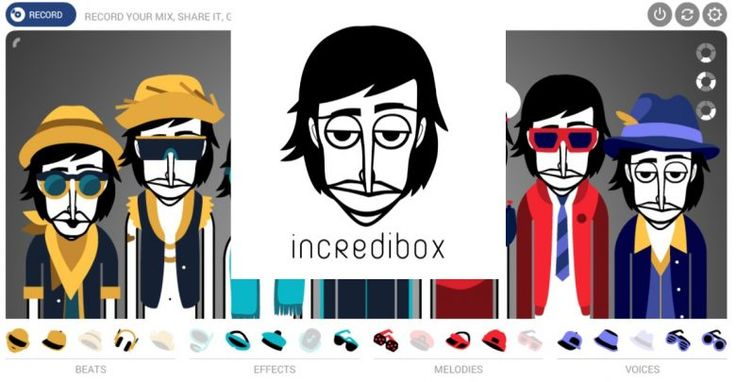 Create your own mix with Incredibox