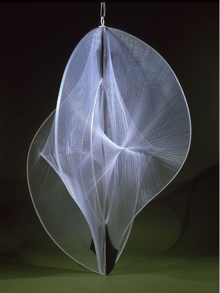 Gallery of work of Naum Gabo: Linear Construction is Space No.2