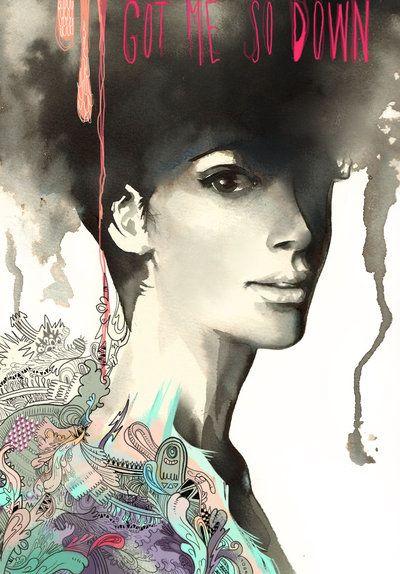 Got me so down | María Emegé  #illustration
