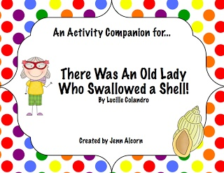 """SLP Gone Wild creates a language unit to accompany """"There Was An Old Lady Who Swallowed a Shell!""""  Pinned by SOS Inc. Resources http://pinterest.com/sostherapy."""