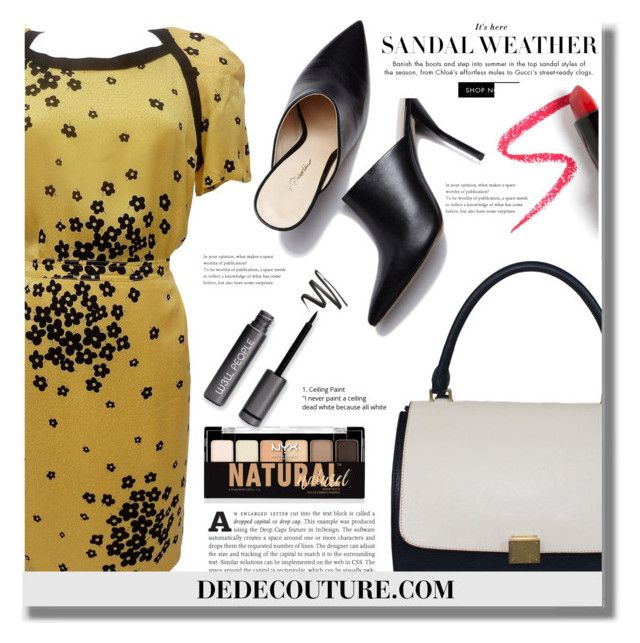"""""""DEDECOUTURE.COM"""" by edita-n ❤ liked on Polyvore featuring CÉLINE, NYX, Lapcos, vintage and dedecouture"""