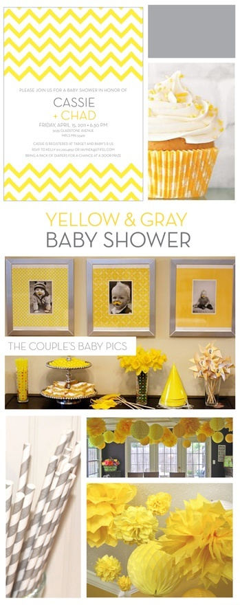 I love yellow and  grey colors together, even if they aren't the traditional pinks and purples for having a girl.