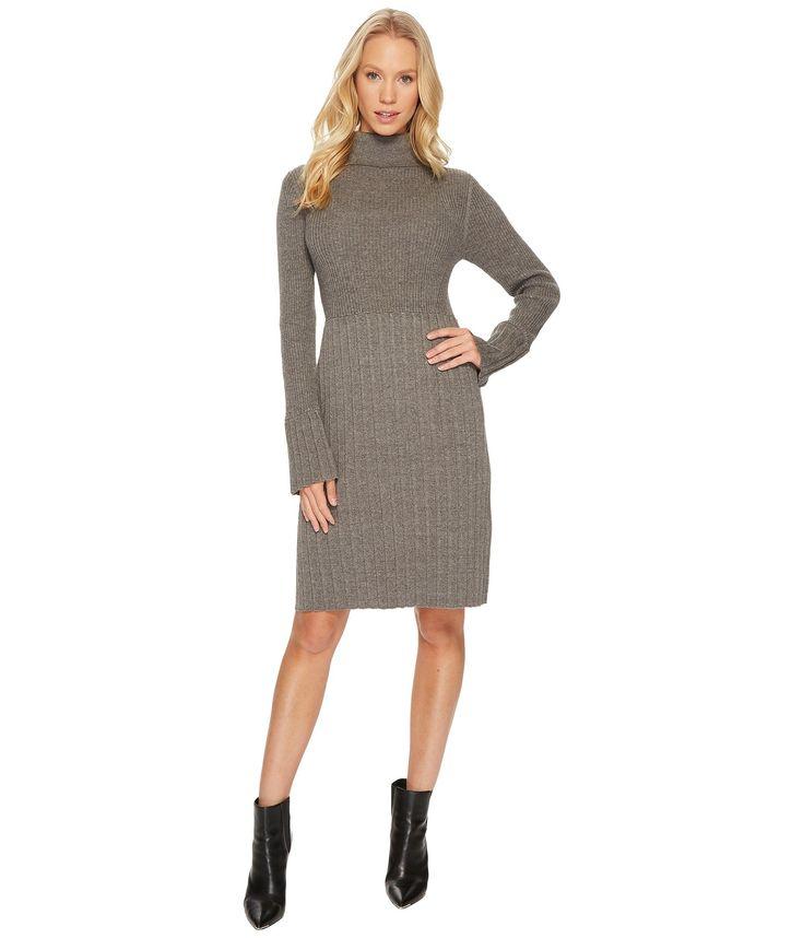 ADRIANNA PAPELL Turtleneck Slim Sweater Dress. #adriannapapell #cloth #