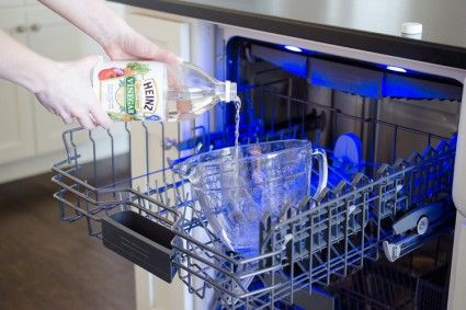 how to clean dishwasher with white vinegar