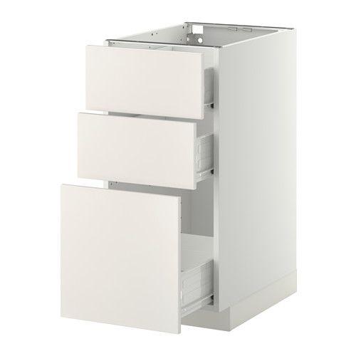 METOD / FÖRVARA Uschr 3 Fr/3 haho Sch - weiß, Veddinge weiß, 40x60 cm - IKEA