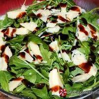 Σαλάτα με σπανάκι, ρόκα και παρμεζάνα