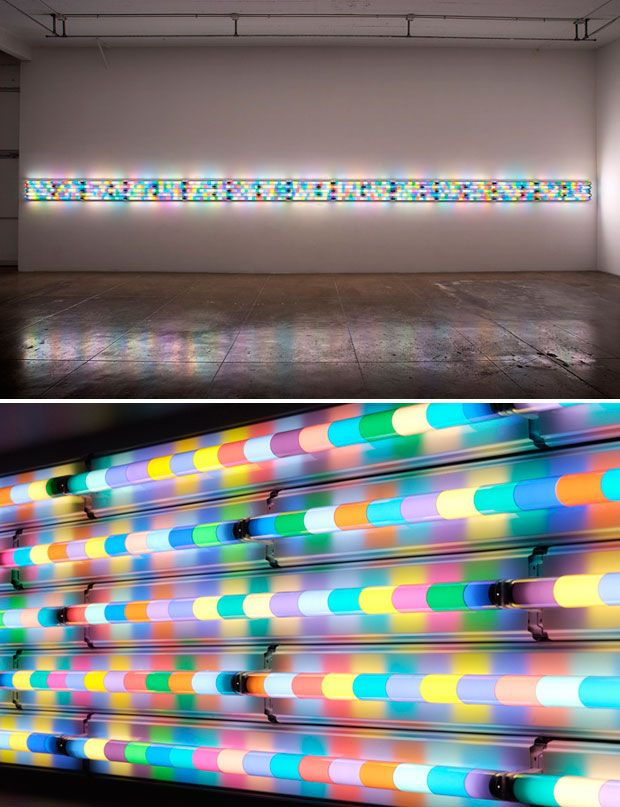 Fluorescent light bulbs: Installation, Exact Colors, Interiors Design, Lights Bulbs, Sunsets South, Flats, Spencer Finch, I D Thoughts, Lights Colors