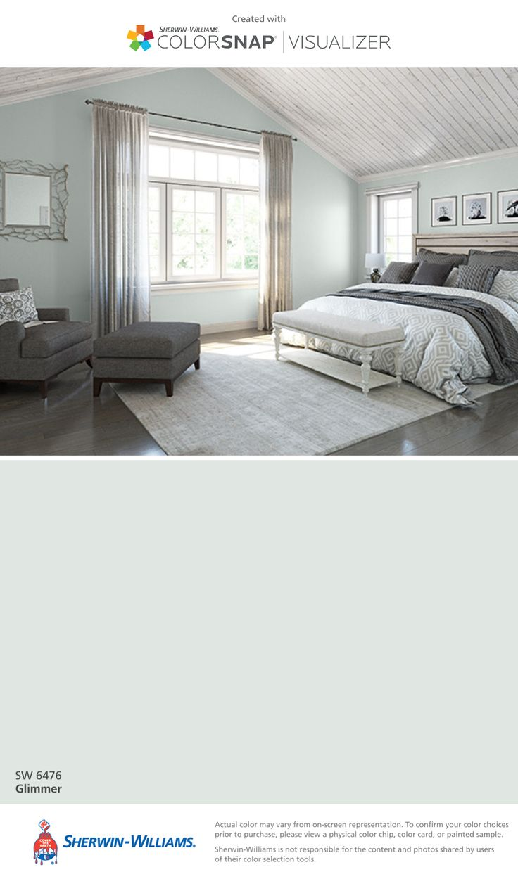 I found this color with ColorSnap® Visualizer for iPhone by Sherwin-Williams: Glimmer (SW 6476).