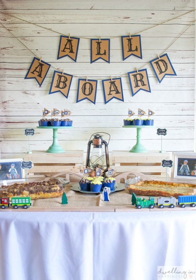 How to Throw a Vintage Train 1st Birthday Party