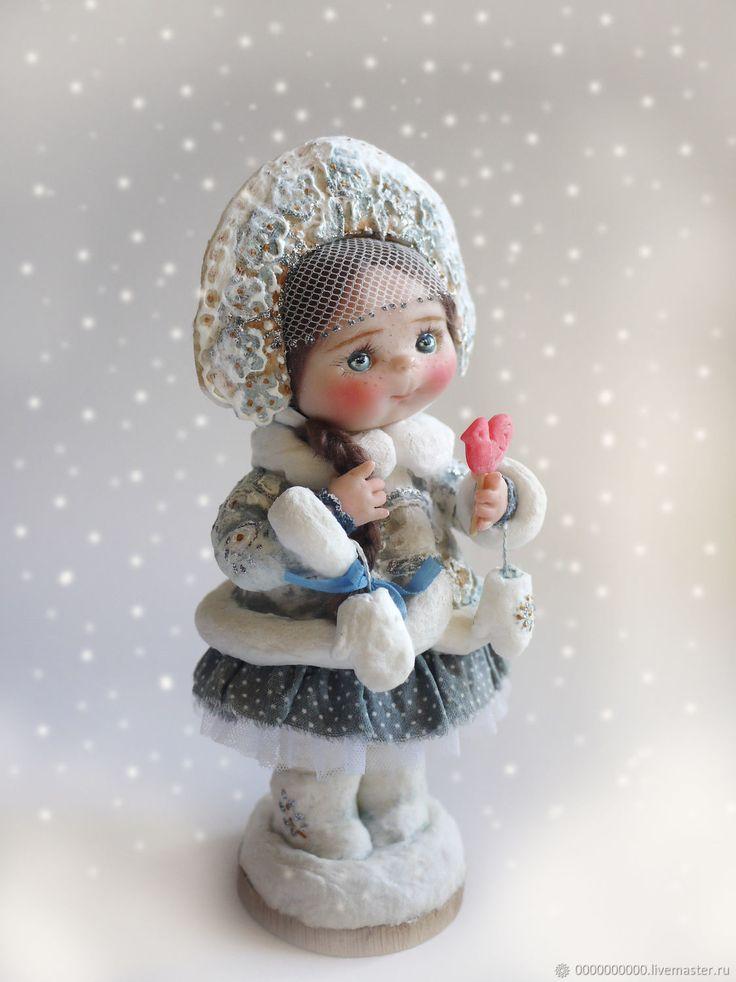 Купить Снегурочка - новогодние игрушки, снегурочка, корона, новогодний подарок, авторская кукла, кукла в подарок