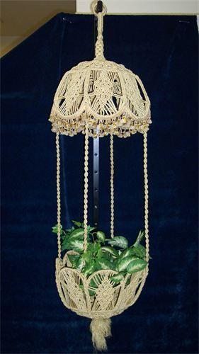 Pix For > Vintage Macrame Plant Hanger